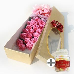 러브유(꽃상자)+유리병캔디